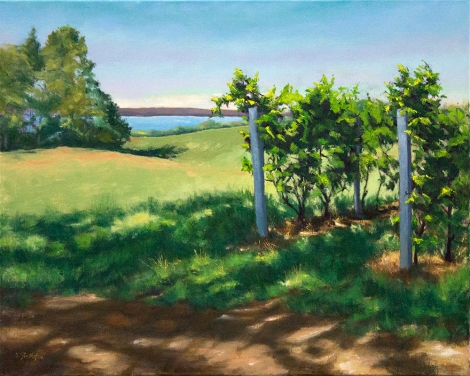 Vineyard by the Lake 24x30